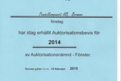 2014 - Auktorisationsbevis