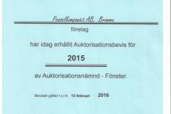 2015 - Auktorisationsbevis
