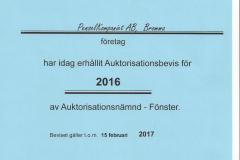 2016 - Auktorisationsbevis