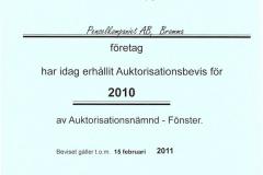 2010 - Auktorisationsbevis